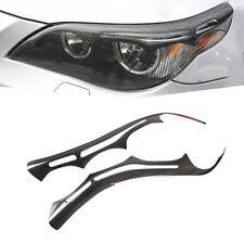Real Carbon Fiber Eyebrow Eyelid for BMW E60 E61 M5 525i 530i 535i 2004 2010