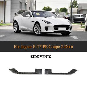 Carbon Kotflügel Seite Lufteinlässe Fender Vent Passt für Jaguar F-TYPE 2013-19