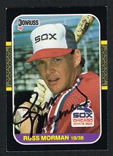 Russ Morman #306 signed autograph auto 1987 Donruss Baseball Trading Card