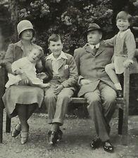 Lord John Savile Esme Grace Wolton & Children Rufford Abbey 1929 Photo Article