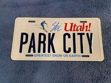 Park CIty UT Ski Utah Aluminum License Plate Tag Greatest Snow on Earth