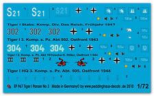 1/72 marqueurs pour tiger I Char no 3 967