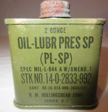 WWII Era 2 oz Oil Lubricant (PL-SP) for M1 Carbine or M1 Garand Rifle 2 Ounces