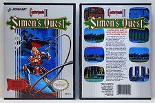 Castlevania 2 Simon's Quest - Nintendo NES Custom Case - *NO GAME*