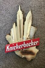 VINTAGE KNICKERBOCKER BEER SIGN W/ EMPIRE STATE BUILDING NYC SKYLINE NEW YORK NY