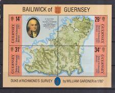 Guernsey1987 postfrisch MiNr. Block 4 Landkarte von Guernsey.