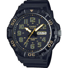 Casio MRW210H-1A2V, Oversized Dial, Black Resin Band, Day/Date, 100 Meter WR