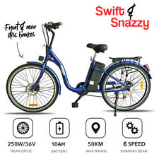 Blue Road Legal 26 Inch Electric Bike Commuter Ebike 36V 250W Pedal Assist 10Ah