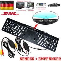 DE 170°IR LED Rückfahrkamera kennzeichen kabellos Nummernschild Einparkhilfe Set