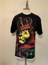 Og Abel Clothing Crown Rasta Lion Black Green Yellow Red T Shirt Men's Large