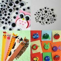 700 Googly Wiggly Wobbly Eyes SELF ADHESIVE Crafts Mixed 7 Size 6mm to 16mm-Xmas