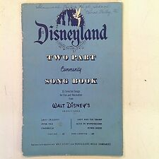 Vintage 1955 Disneyland Two Part Community Songbook Wonderland Music Companies