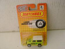 1990 MATCHBOX SUPERFAST #35 MB35 LAND ROVER NINETY 90 PARK RANGER NEW MOC