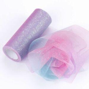 Rainbow Tulle Glitter Roll Sequin Crystal Tutu Skirt