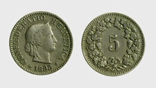 s528_76) Svizzera  Switzerland  Helvetia - SUISSE -  5 Rappen 1898 B