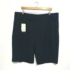 NEW Biz Collection Shorts Sz 22 & 24 Navy Blue Above Knee Business Work Plus Tag