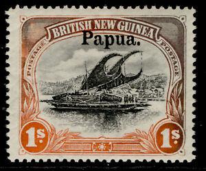AUSTRALIA - Papua EDVII SG19, 1s black & orange, M MINT. Cat £30.