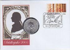 BRD Numisbrief 10 EURO Schiller Schillerjahr 2005, Sondermünze