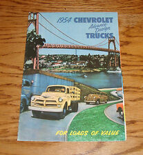 1954 Chevrolet Truck Full Line Foldout Sales Brochure 54 Chevy Pickup Panel