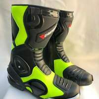 motorcycle boot Motorbike leather shoes LEATHER RACING Motorbike Shoes