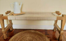 Bench 100% Hand Made.Charpoy Indian style.Hand-knitted.Strong Wood & Pure Cotton