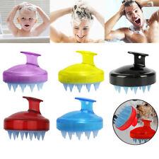 Soft Silicone Handheld Oval Shampoo Scalp Head Hair Massage Massager Brush Comb