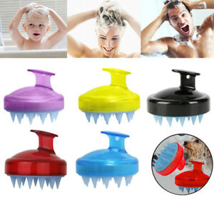 Soft Silicone Handheld Oval Shampoo Scalp Head Hair Massage Massager Brush Comb
