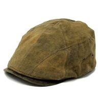 Stetson AYR STW354-Brown Tarp Cloth Weathered Cotton Peak Paperboy Cap Hat Sizes