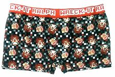 Wreck It Ralph Mens Boxer Briefs Video Game Gray Orange Checked Small S