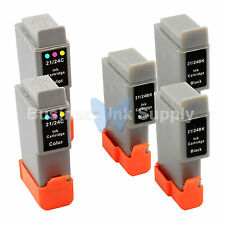 5 PACK BCI-24 BCI24 NEW Compatible Ink Cartridge for Canon BCI-24 HIGH YIELD