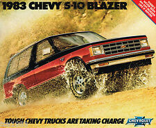 1983 Chevrolet S-10 / S10 BLAZER Truck Brochure / Catalog with Color Chart