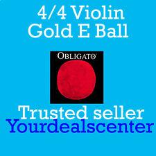 Pirastro Obligato Violin Strings Set 4/4 Gold Ball E