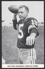 1961 Bart Starr Autographed Green Bay Packers Team Issue Card Not Authenticated