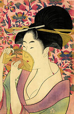 Japanese Art Print: Portrait of a Woman with Comb: Utamaro Reproduction
