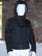 Psycho Cowboy para Mujer Abrigo Chaqueta Acolchada con Capucha Negro (M) BNWT
