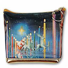 3D Lenticular Universal Purse Bag Christmas Santa Claus Reindeer #I-214-PAVIA#