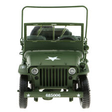 New 1/18 Scale Jeep Willys Diecast Model Military US Army Vehicle