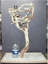 SB51M3 Manzanita Activity Center Parrot Tree Bird Stand Toy Play Gym Java Wood