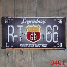 Metal Tin Sign legendary route 66 Decor Bar Pub Home Vintage Retro Poster Cafe