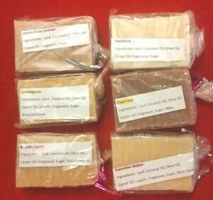 Handmade All Natural Soaps - Several Scents to choose from - Vegan Soap
