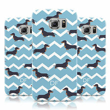 PERSONALISED DACHSHUND INITIALS CASE COVER FOR SAMSUNG GALAXY MOBILE PHONES