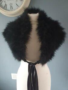 Jasper Conran Ladies Black Faux Fur Stole / Scarf / Collar / Wrap BNWOT