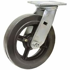 "5"" x 2"" Swivel Plate Caster Rubber Tire On Cast Iron Wheel 1-1770-S"
