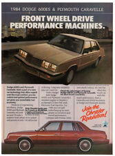 1984 DODGE 600ES, PLYMOUTH Caravelle Vintage Original Chrysler Print AD Canada