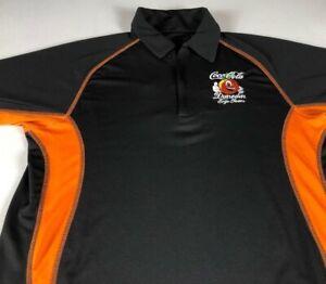 Coca Cola Polo Shirt Mens Medium Dunedin Florida Ergo Team Dri-Fit Coke 1/4 Zip