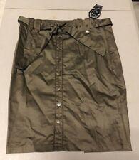 Living Dead Souls GREEN ARMY PENCIL SKIRT Goth Mini Skirt Size XL NEW NWT