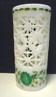 Alabaster with Inlay & Filigree Design Vase/ Holder