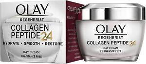 Olay REGENERIST Collagen Peptide 24 DAY Cream FRAGRANCE FREE 50 ml