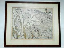 Deflandia Schilandiia - antike Karte/Stich 17.Jahrhundert im Galerierahmen