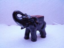 Alter antiker Elefant aus Keramik Glasiert Original Elephant ceramics